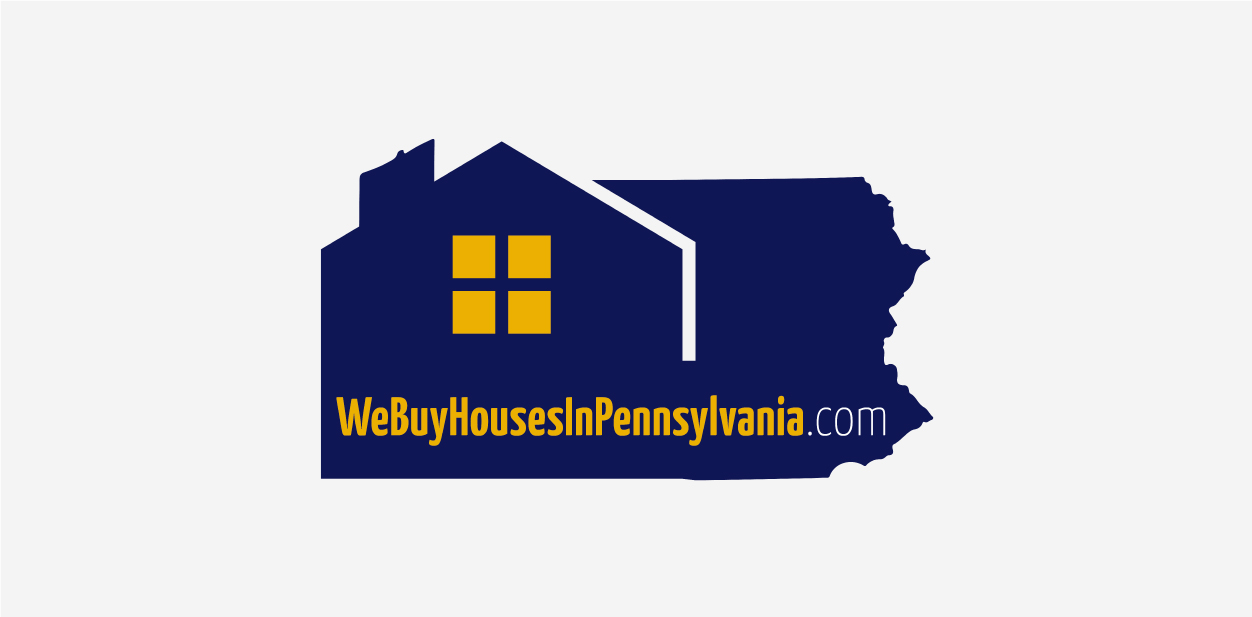Gold, blue and white logo colors of We Buy Houses In Pennsylvania