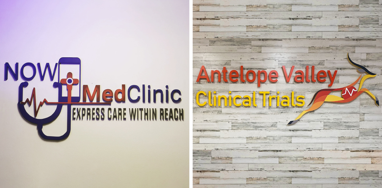 Colorful custom medical office signs