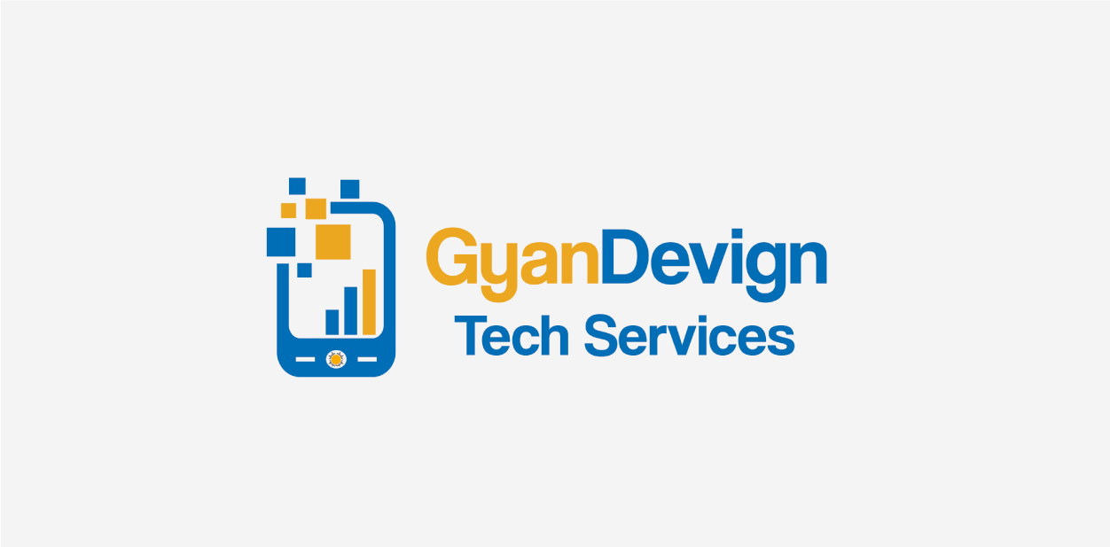 Blue and yellow logo colors of GyanDevign Tech Services