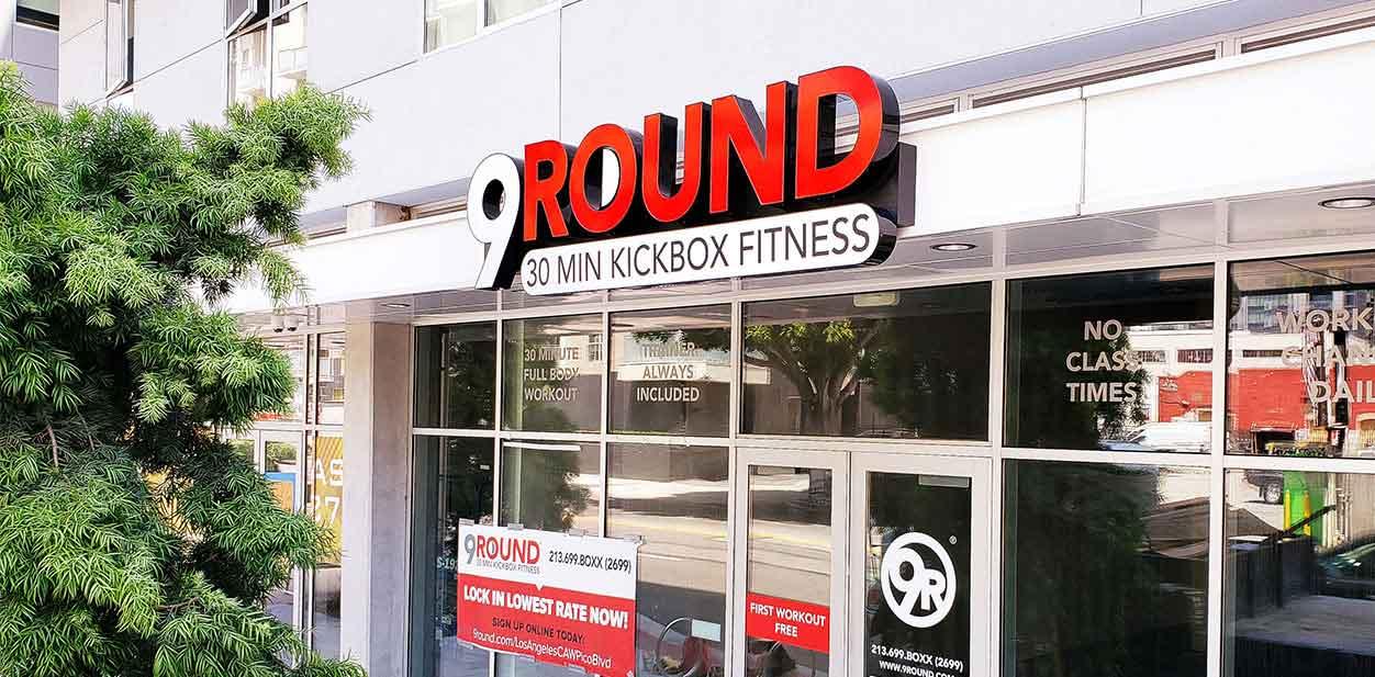 Gym exterior branding idea inspired by 9Round