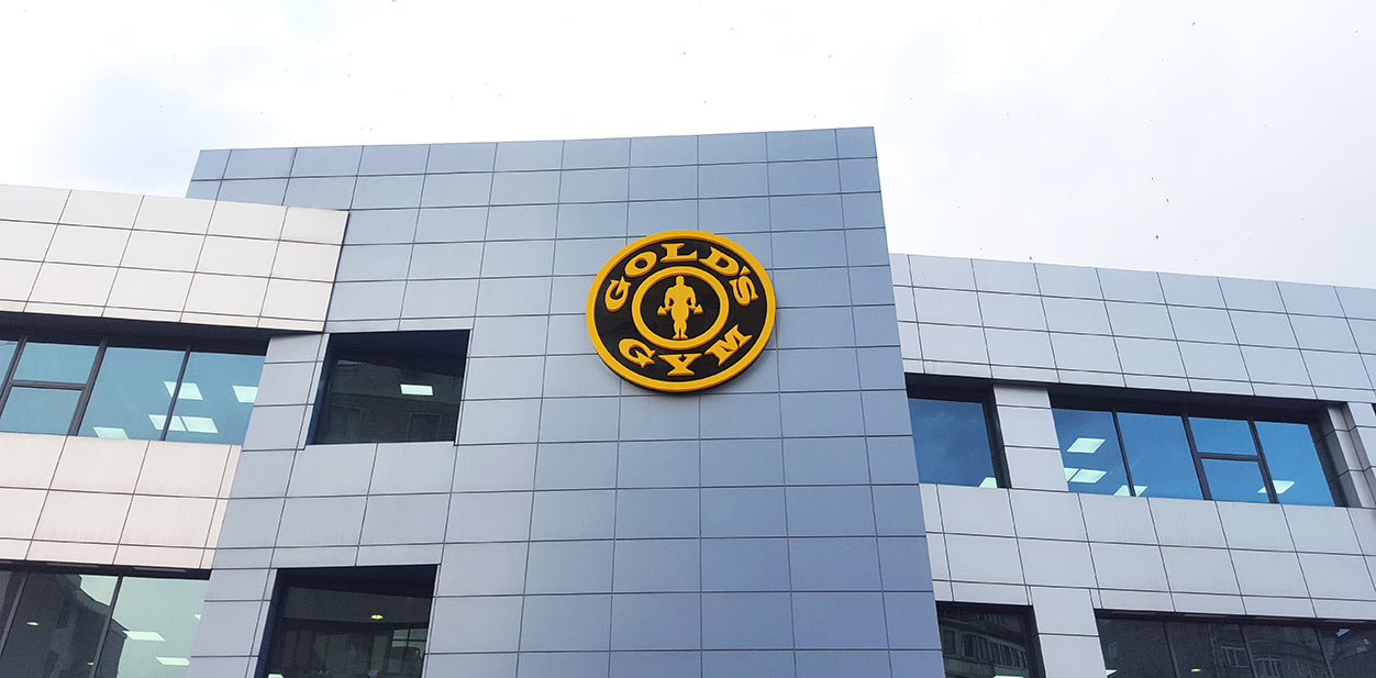 Gold's Gym branding design with the company logo