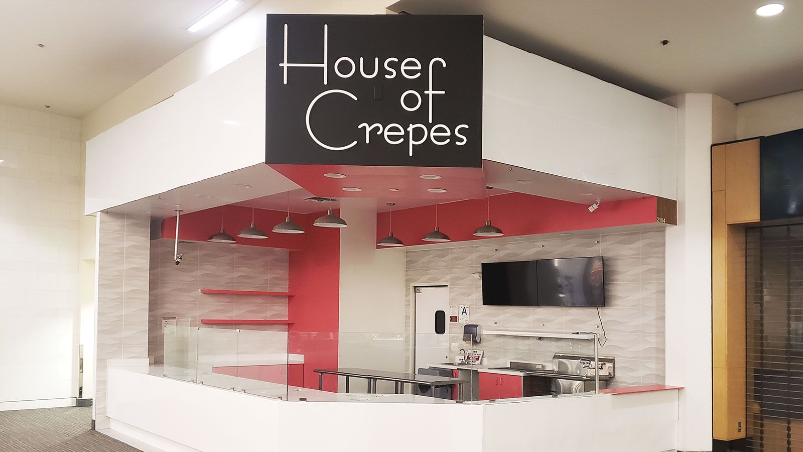 house of crepes acrylic sign
