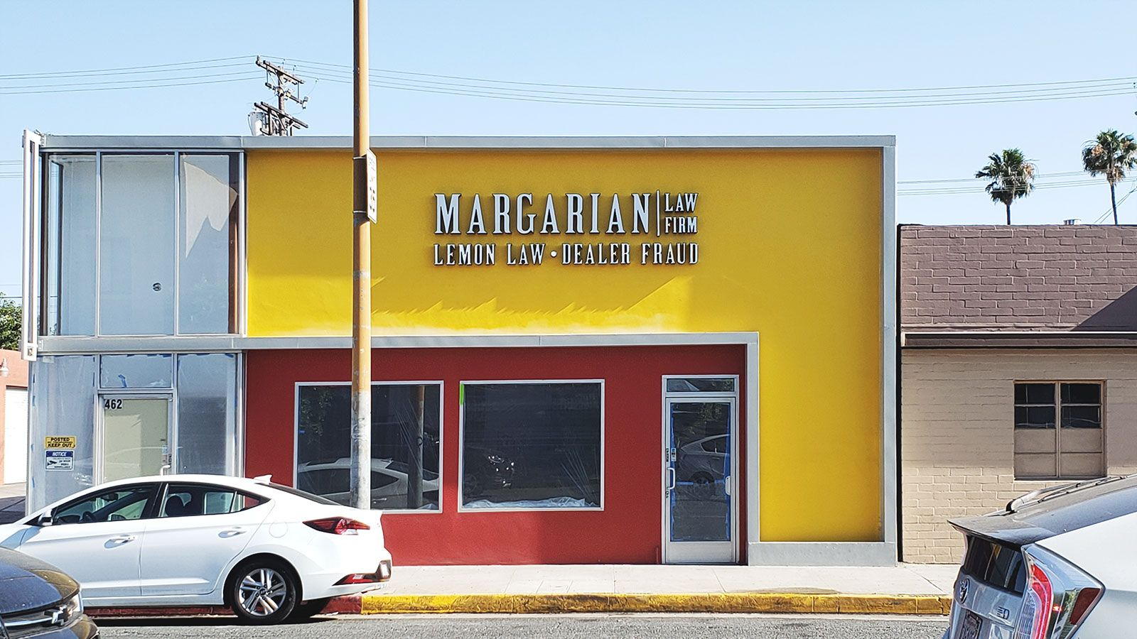 margarian law firm building sign