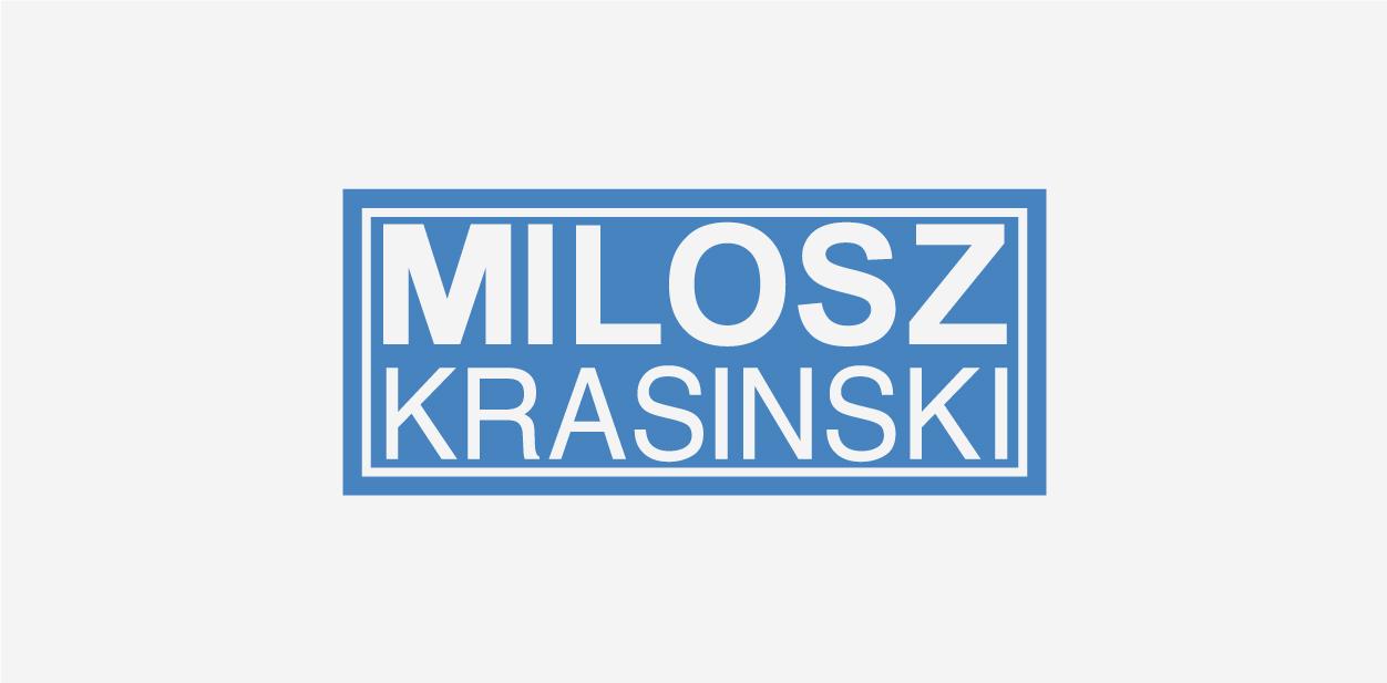 Milosz Krasinski logo font