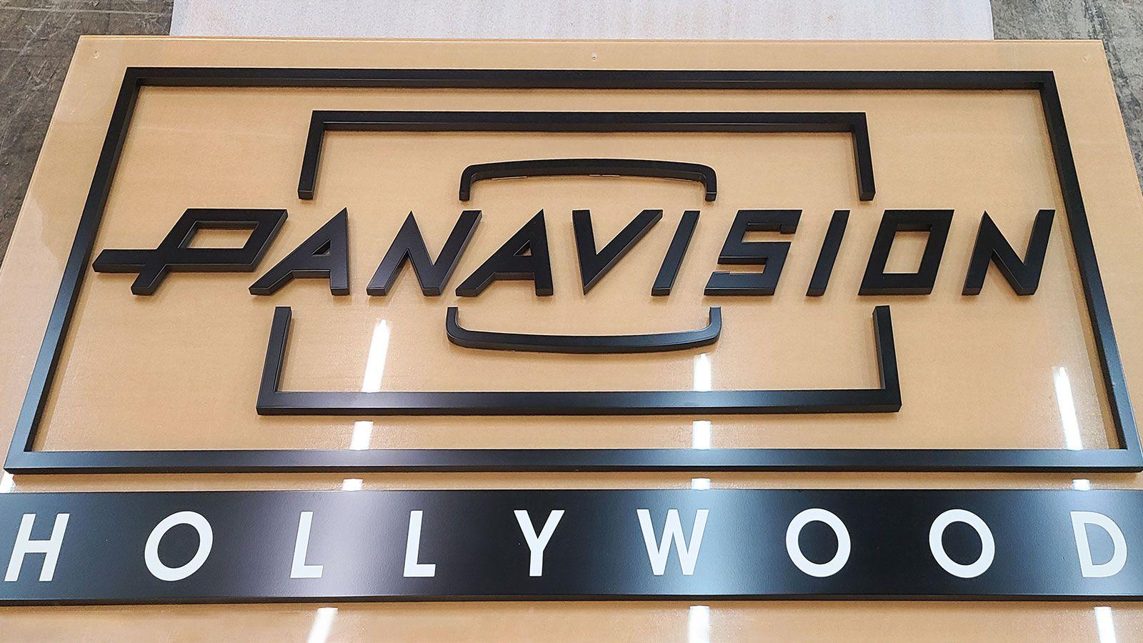 panavision hollywood acrylic sign