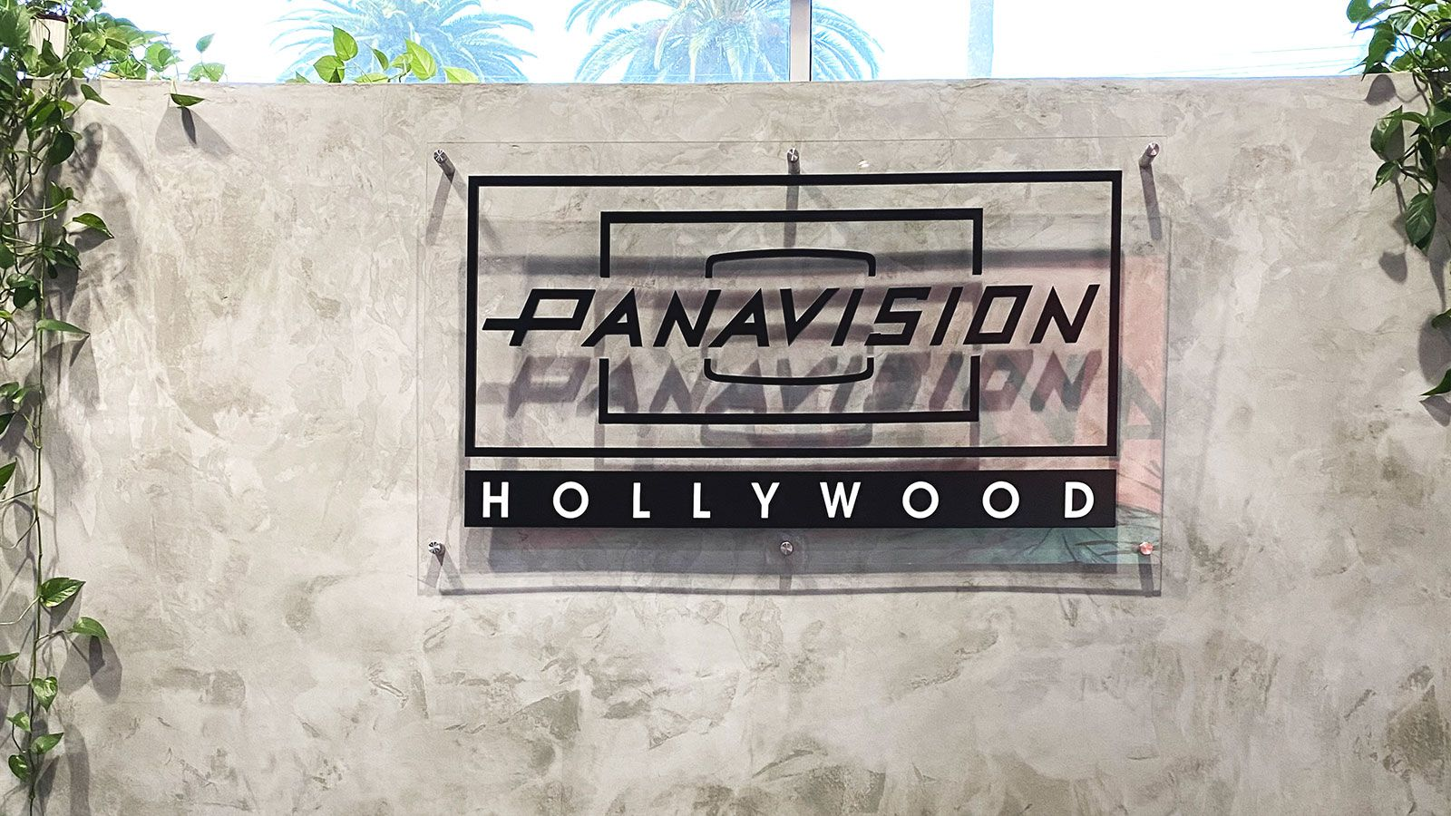 panavision hollywood office acrylic sign