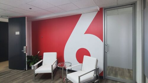 red six aerospace office decals