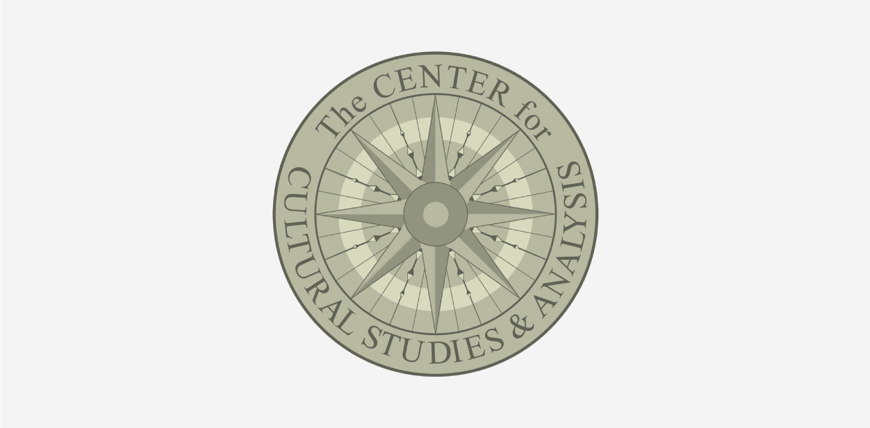 Green-grey and grey logo colors of The Center for Cultural Studies & Analysis