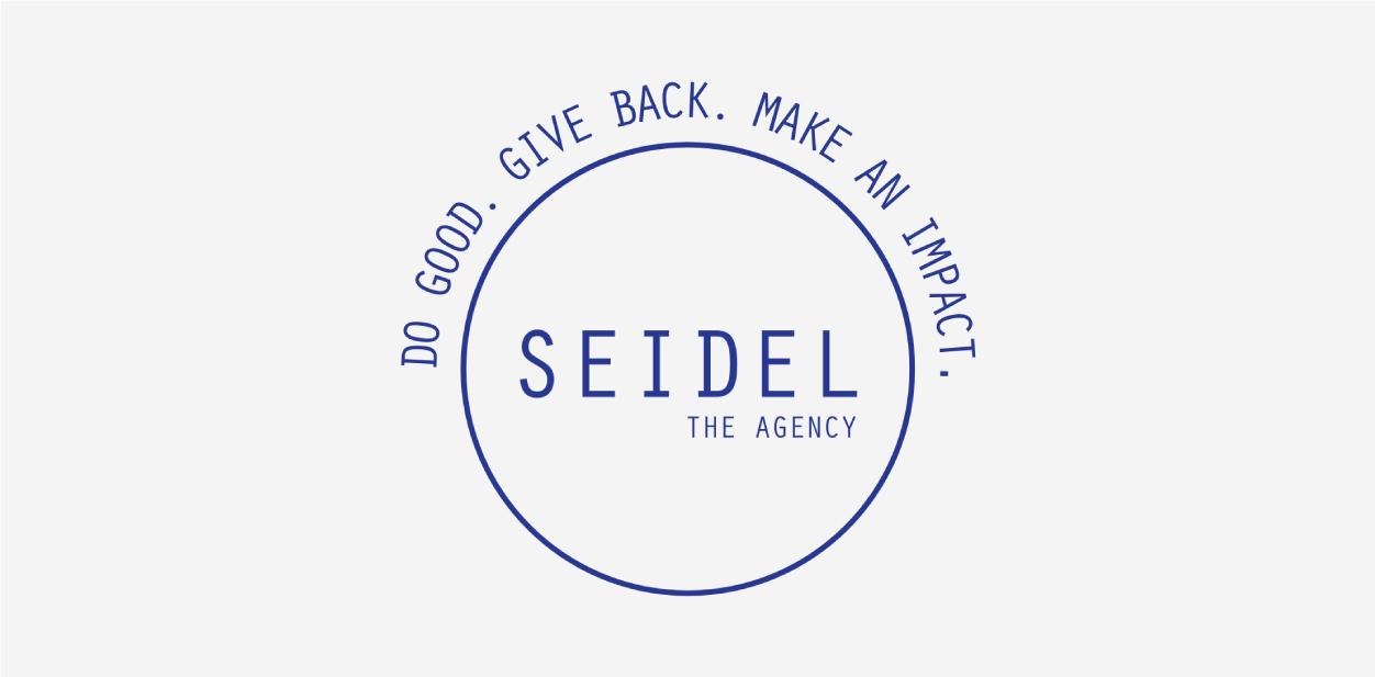 Deep blue logo color of The Seidel Agency