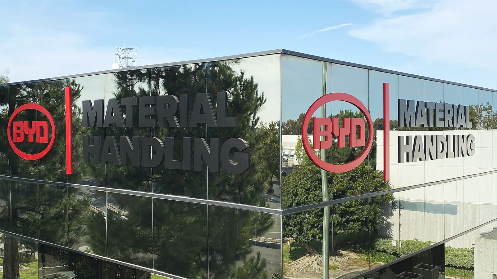 BYD high rise sign