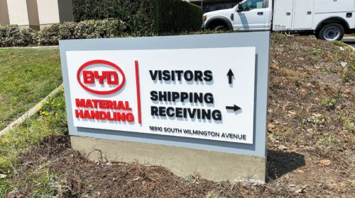 BYD monument sign