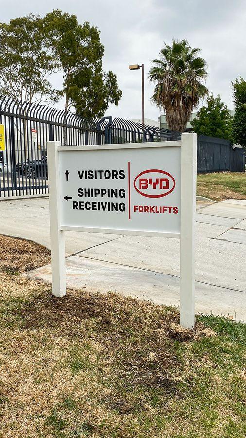 BYD yard sign