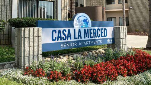 Casa LA Merced architectural sign