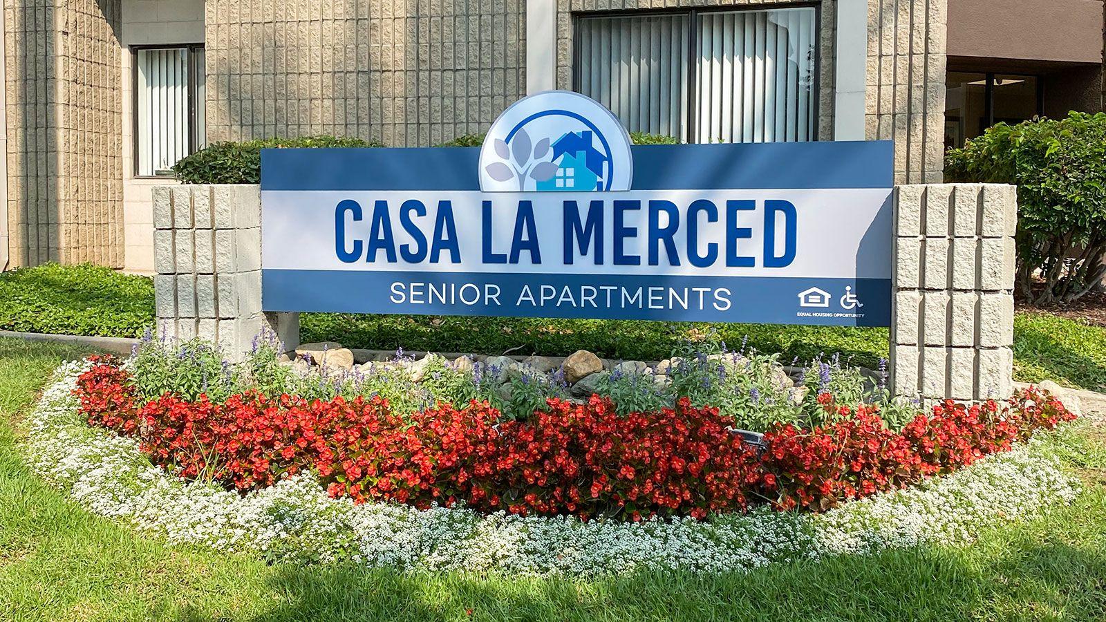 Casa LA Merced monument sign