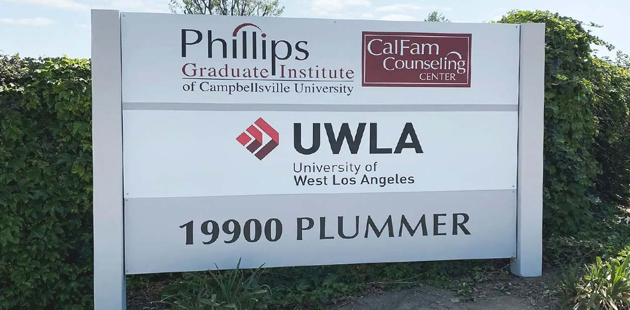 Free standing campus signage