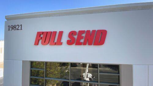 Full Send 3D letters