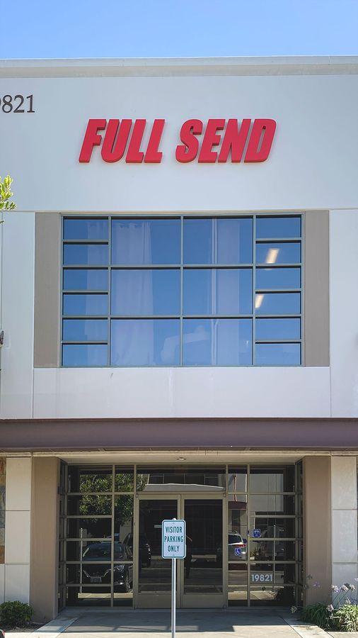 Full Send high rise sign
