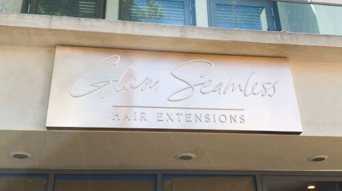 Glam Seamless push through sign