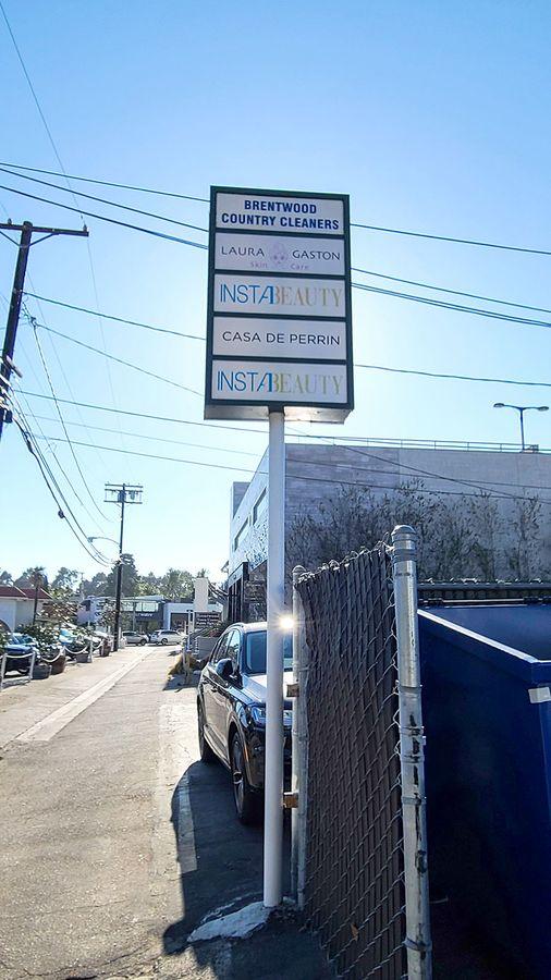 Laura gaston pylon sign reface