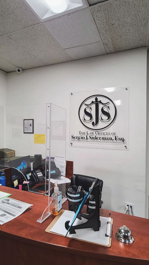 Law office acrylic sign