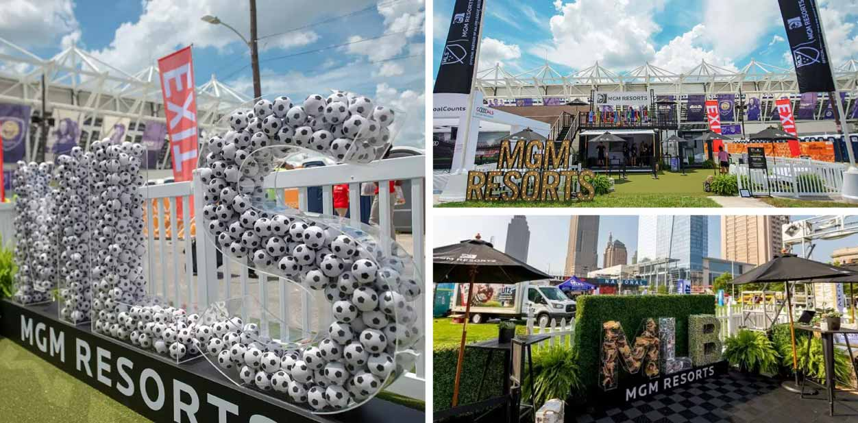 Creative placemaking signage for MGM Resorts
