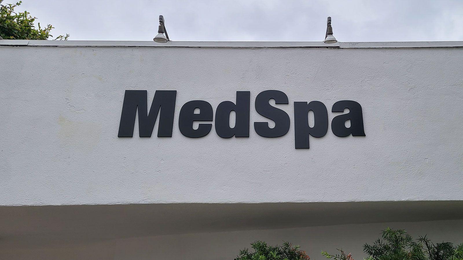 Medspa PVC building sign