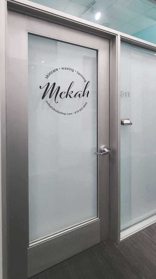 Mekah custom door decal