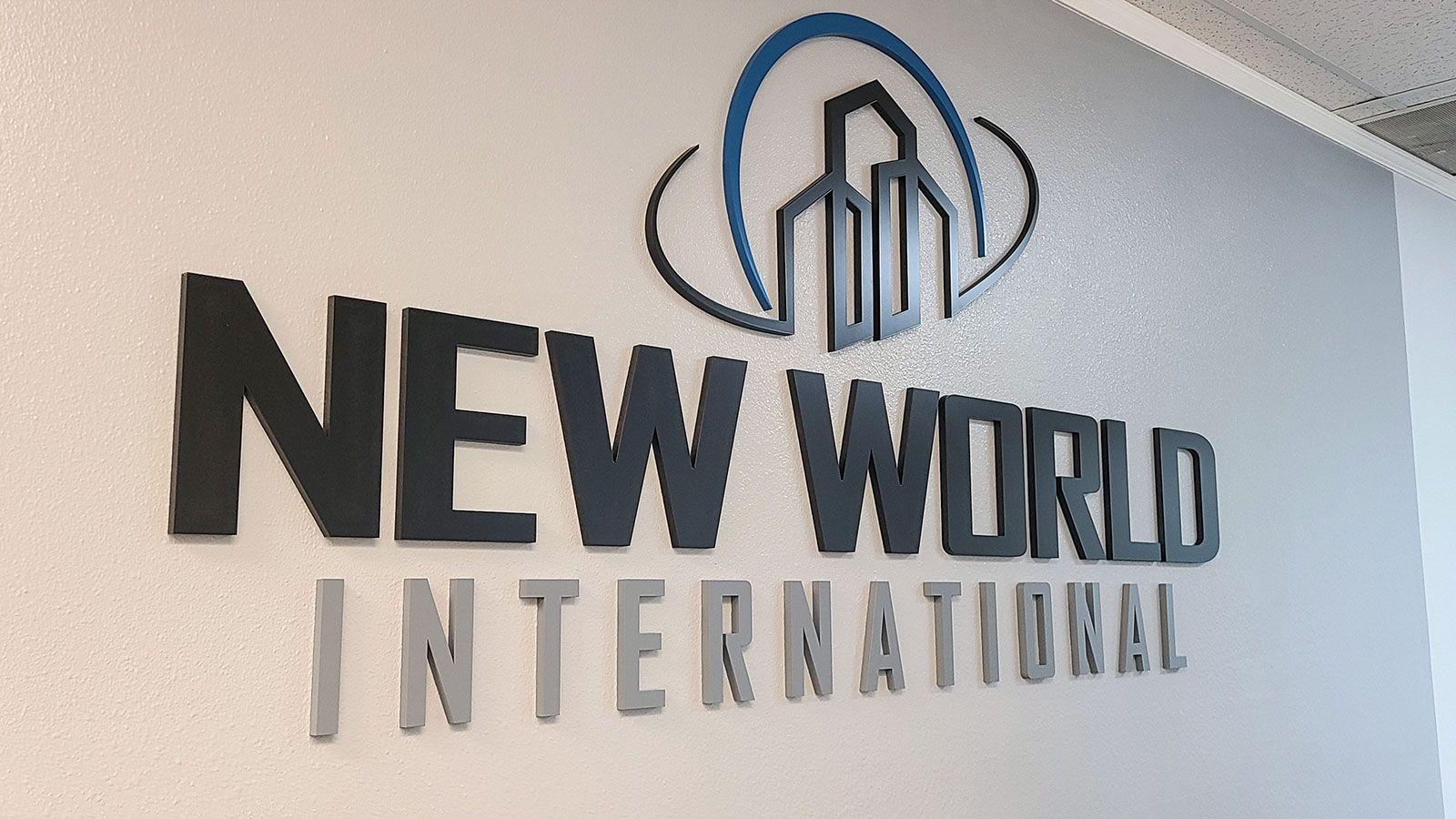 New world interior sign
