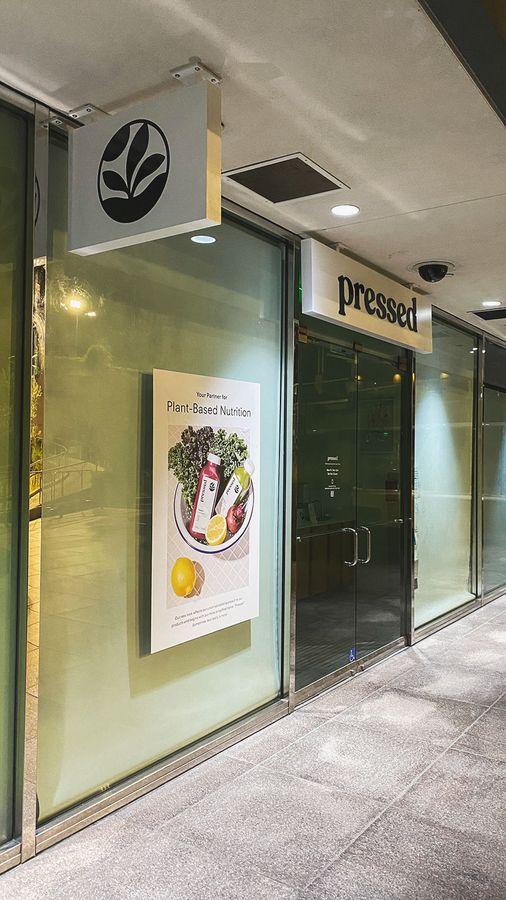 Pressed Juicery store signs