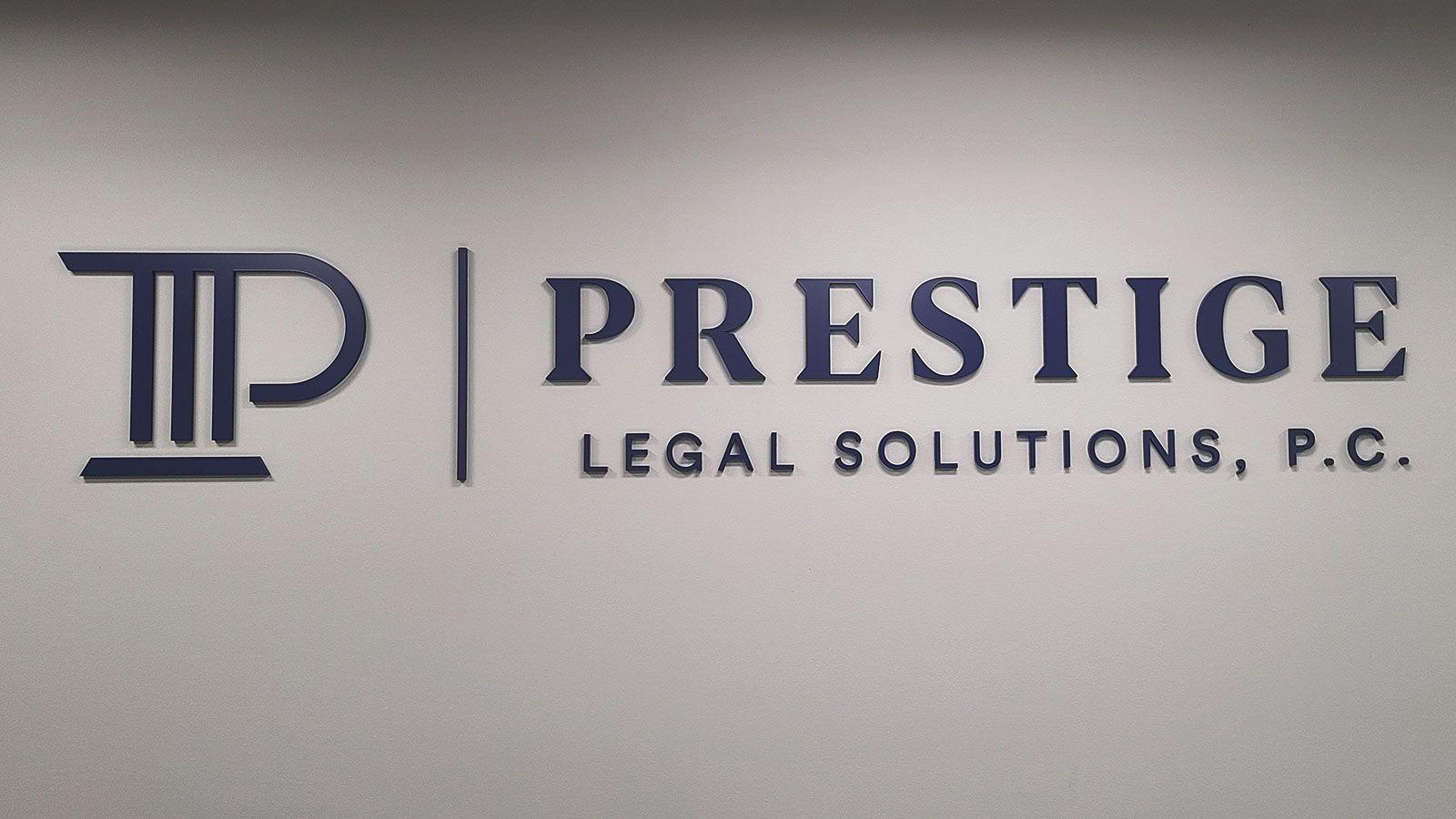 Prestige acrylic 3D letters