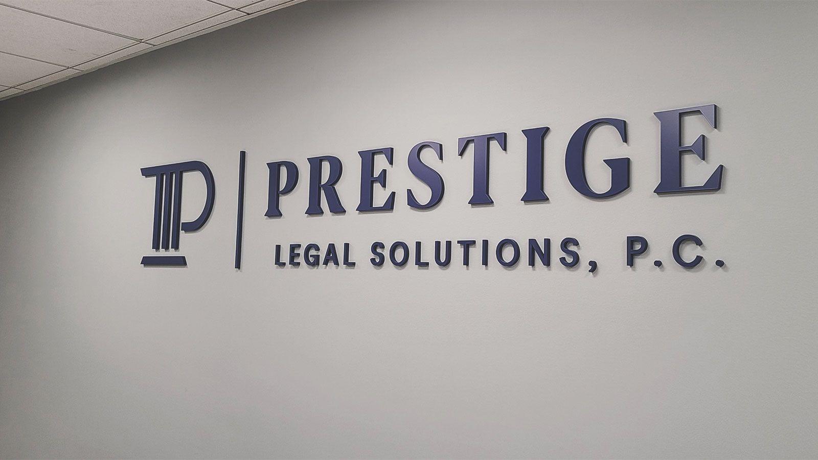 Prestige acrylic office sign