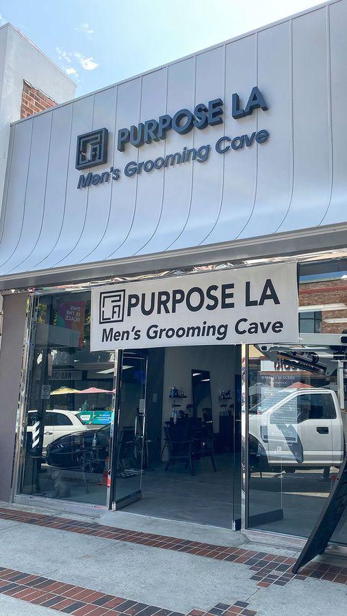 Purpose LA building sign