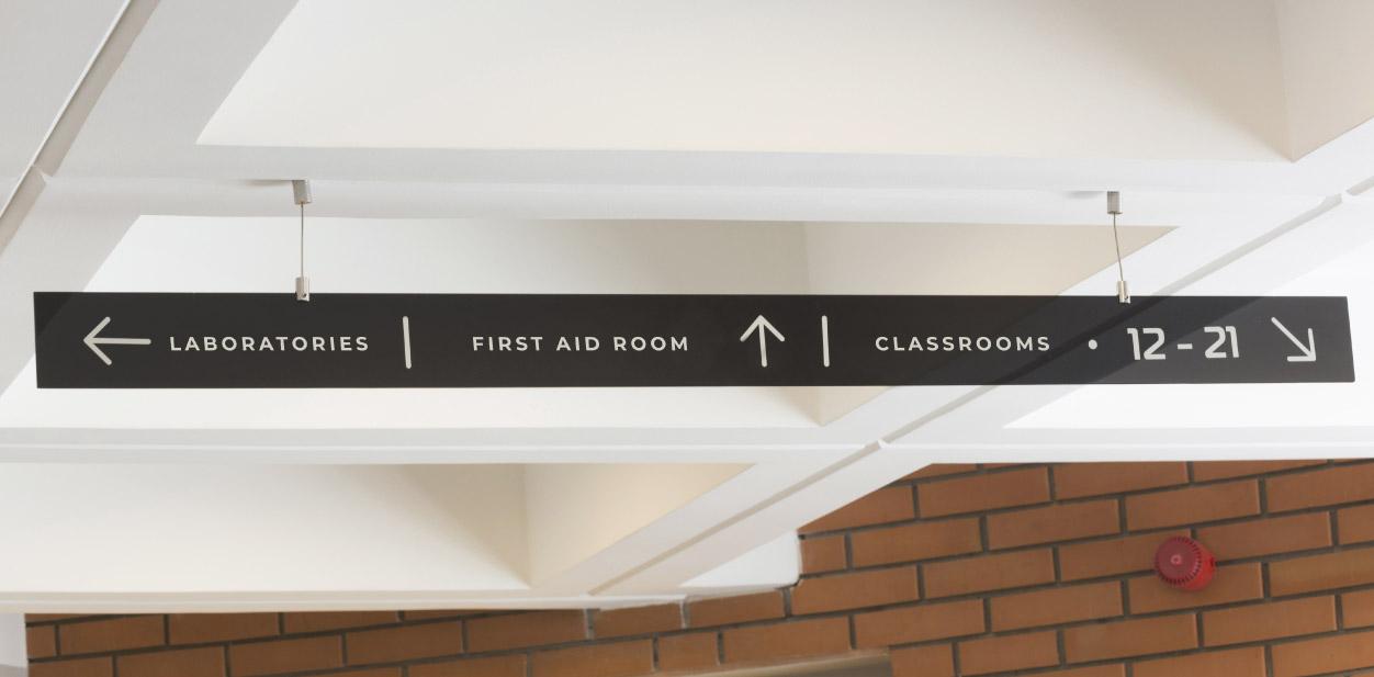 School wayfinding signage