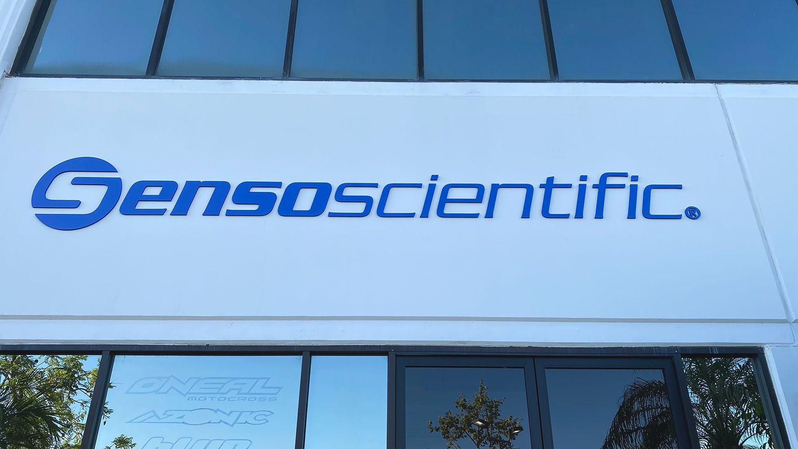 Sensoscientific outdoor sign
