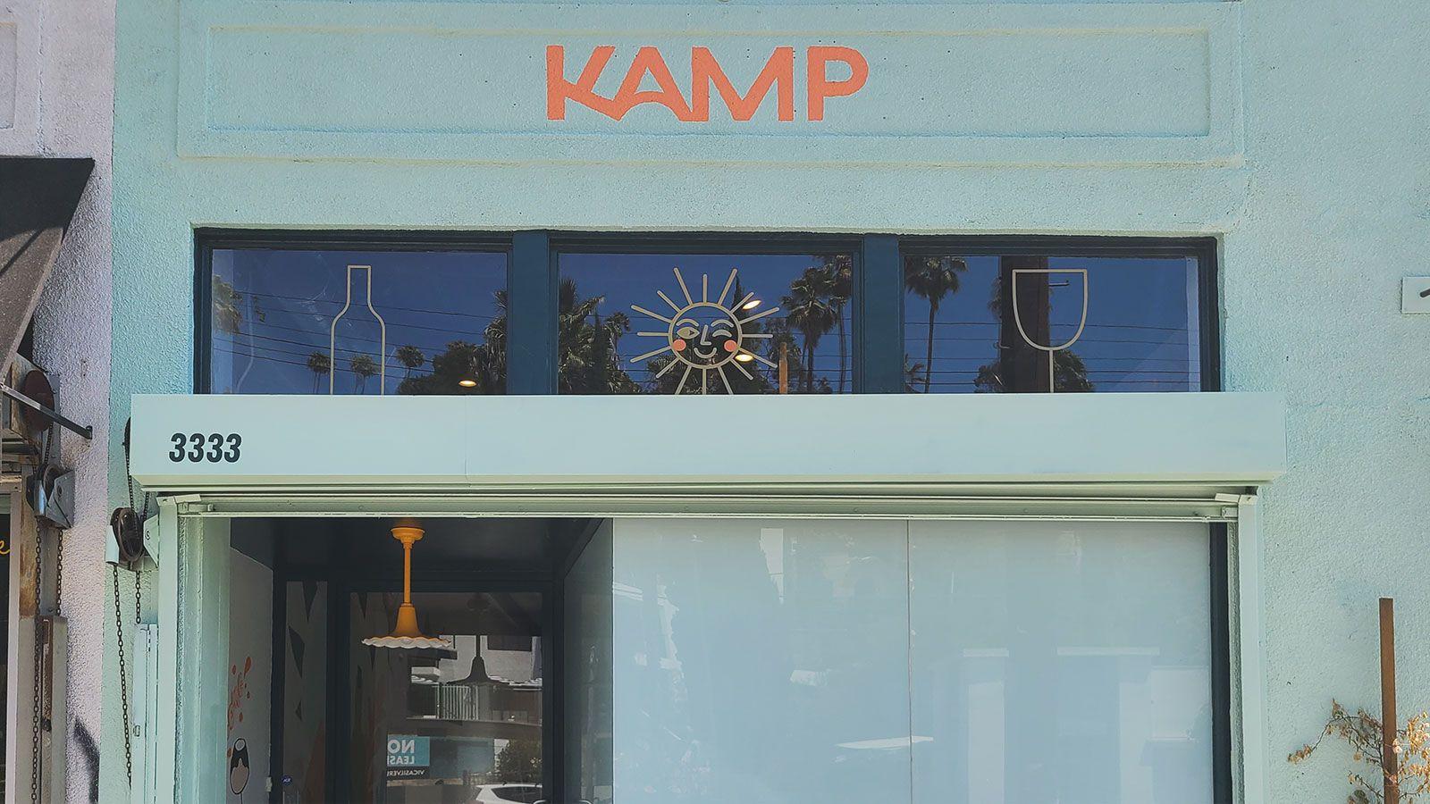 Summer Kamp storefront decals