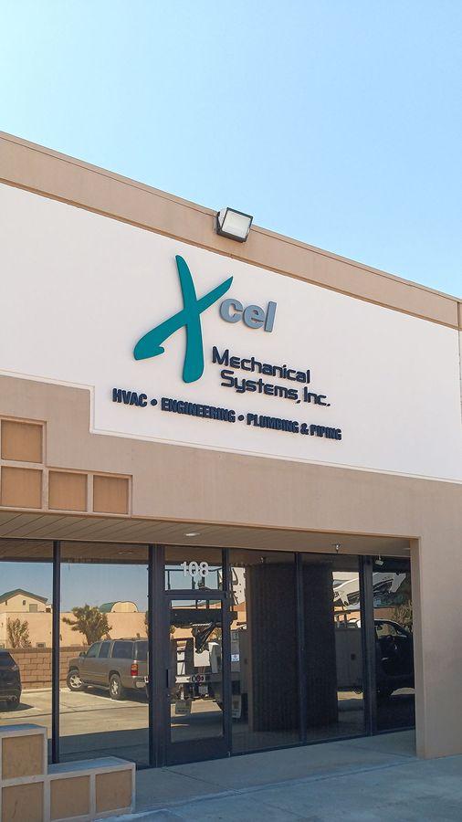 Xcel PVC building sign