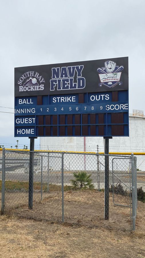 baseball stadium sign