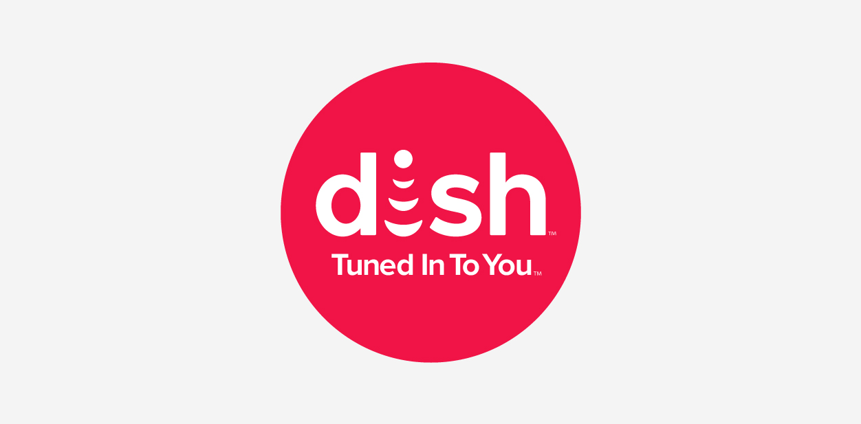 Dish logo in a round shape