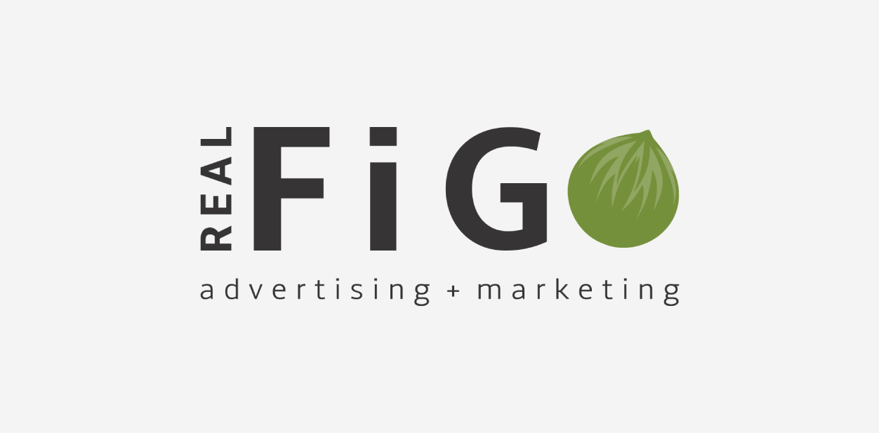 Fig Advertising and Marketing logo in a fig shape