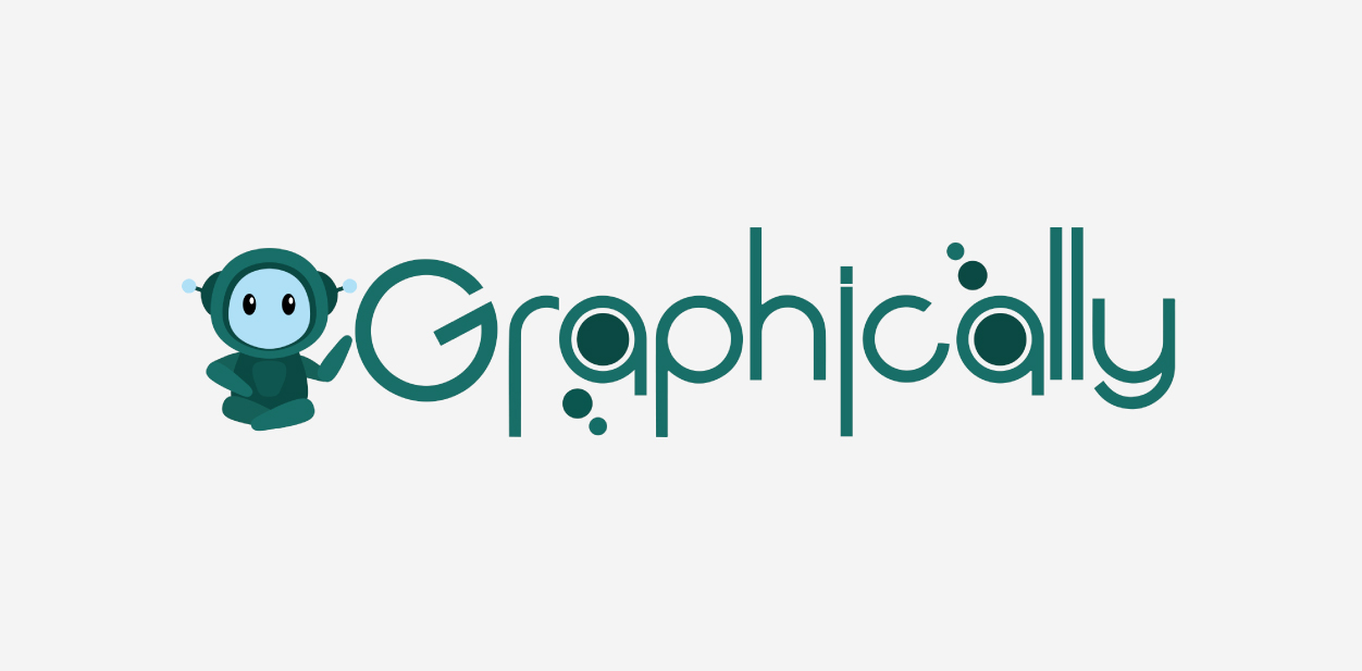 Graphically logo with custom design elements