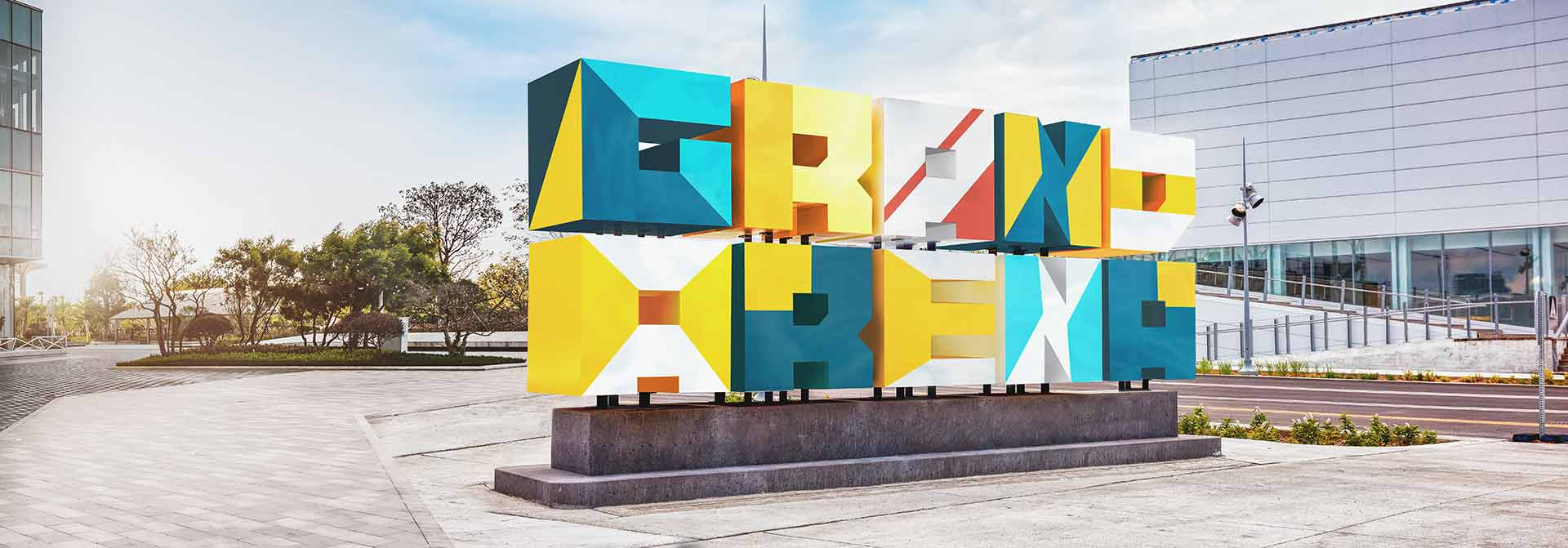 huge multicolored placemaking signage displayed outdoors