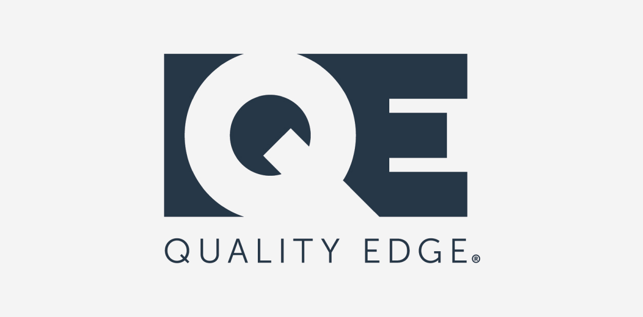 Quality Edge logo with the brand name letters
