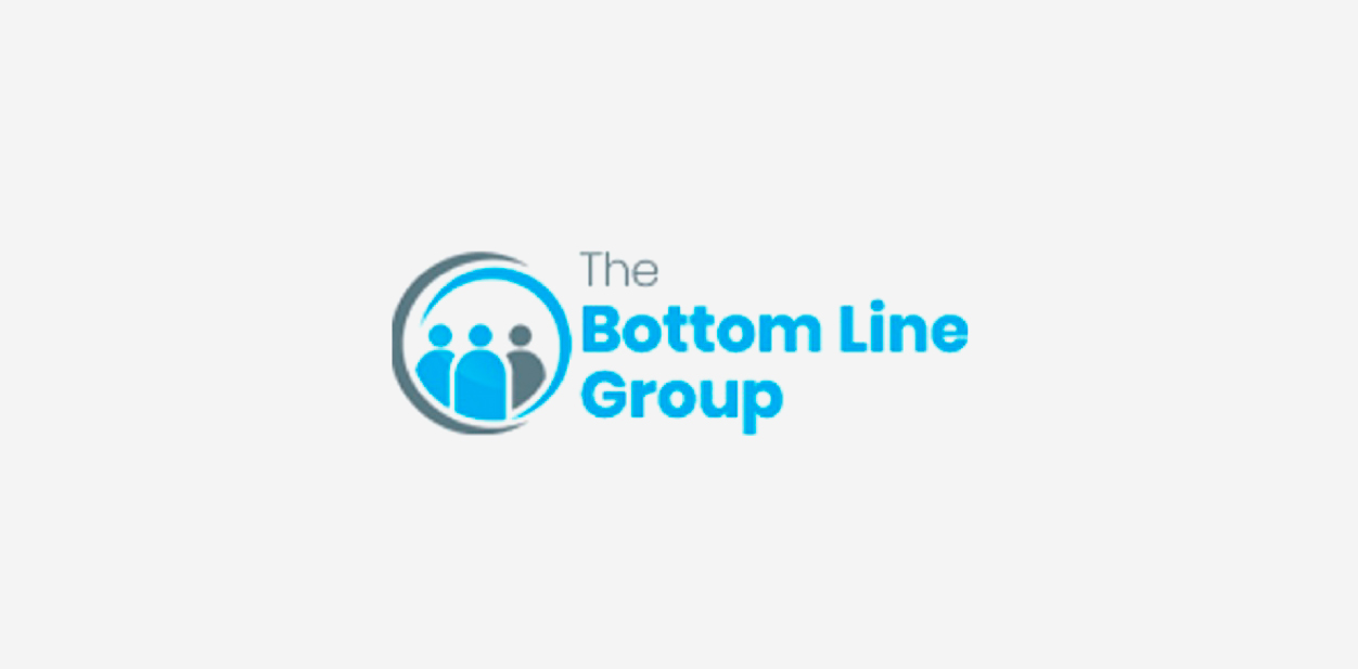 The Bottom Line Group logo with a round shape icon and the brand name