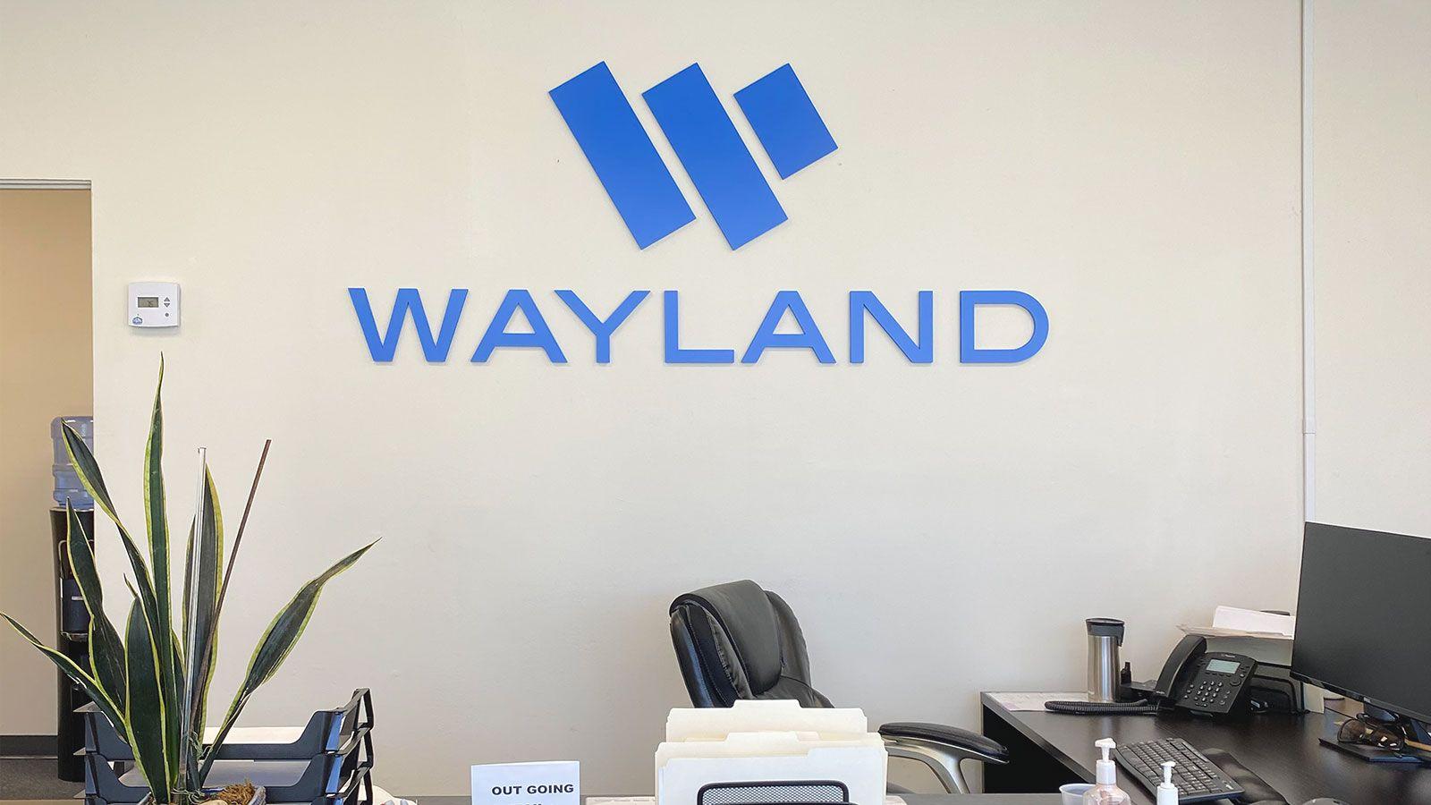 wayland reception sign