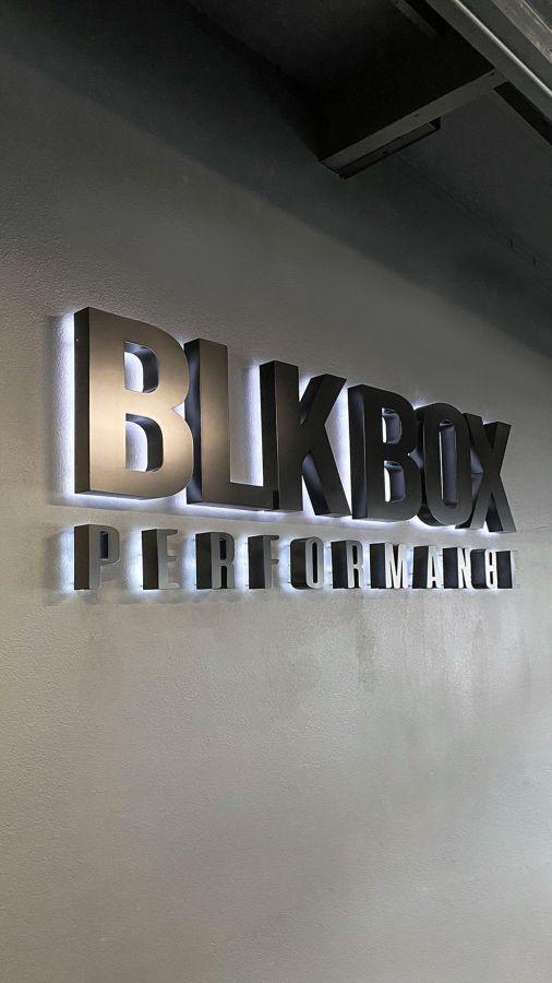 BLK Box reverse channel letters