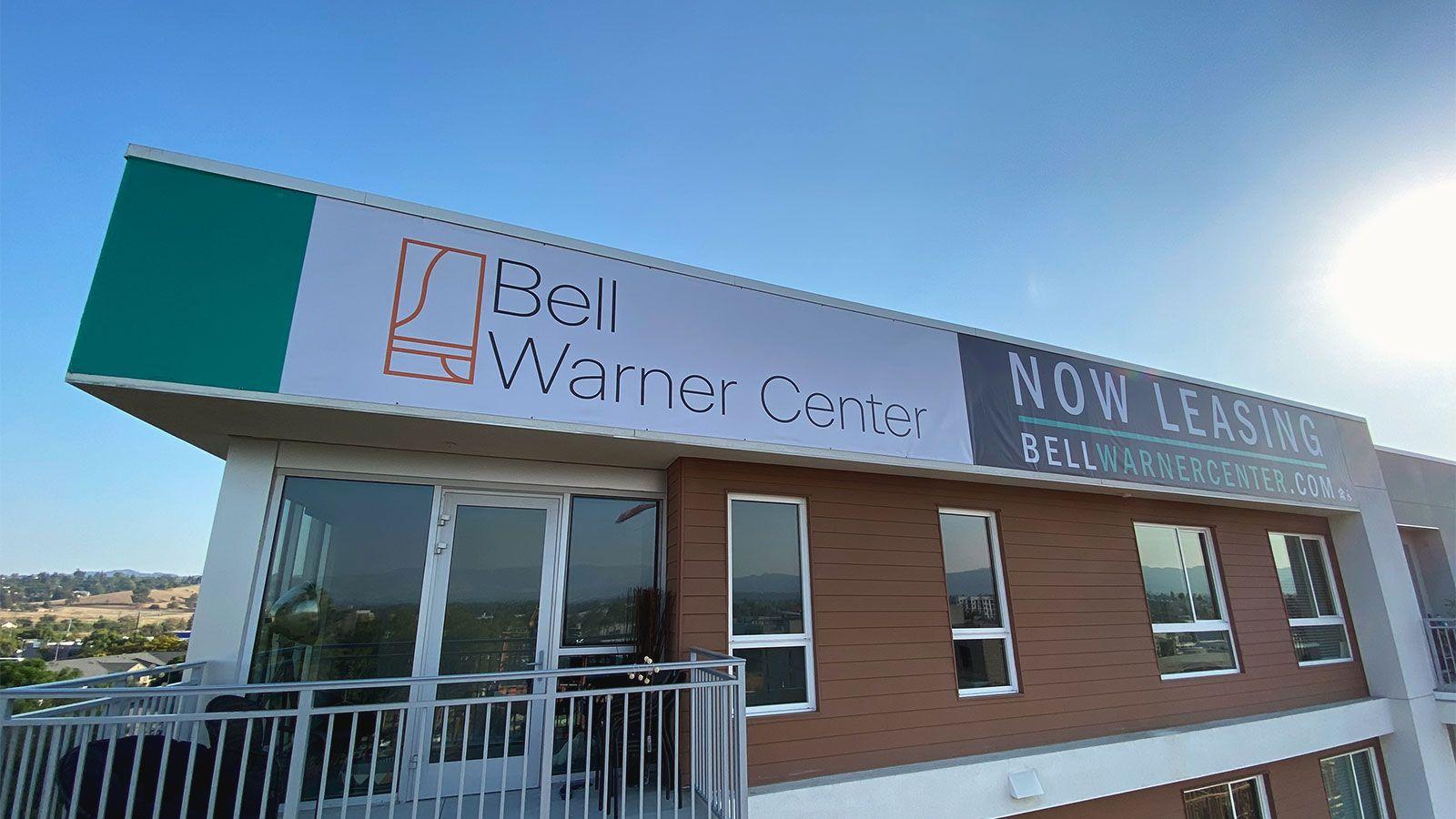 Bell warner center vinyl banners