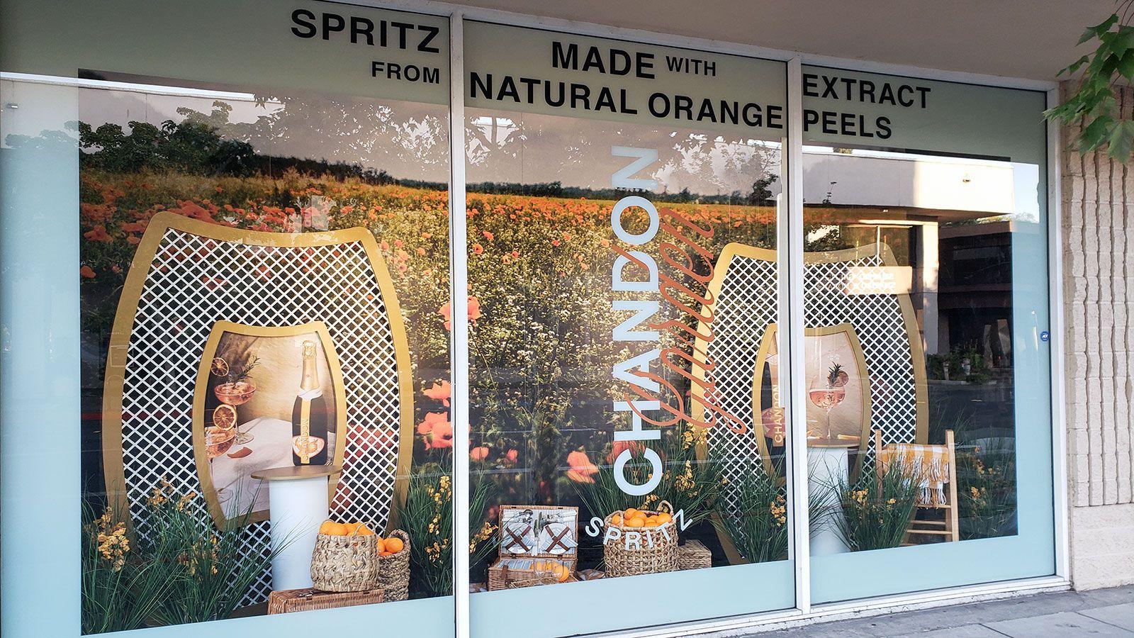 Chandon garden spritz store signs