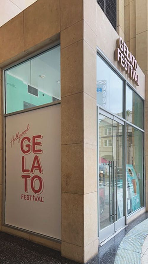 Gelato Festival storefront decal