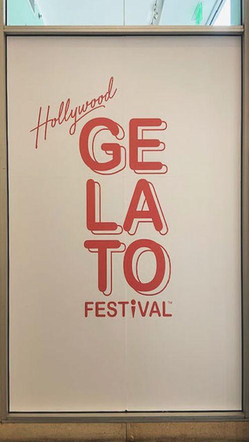 Gelato Festival window decal