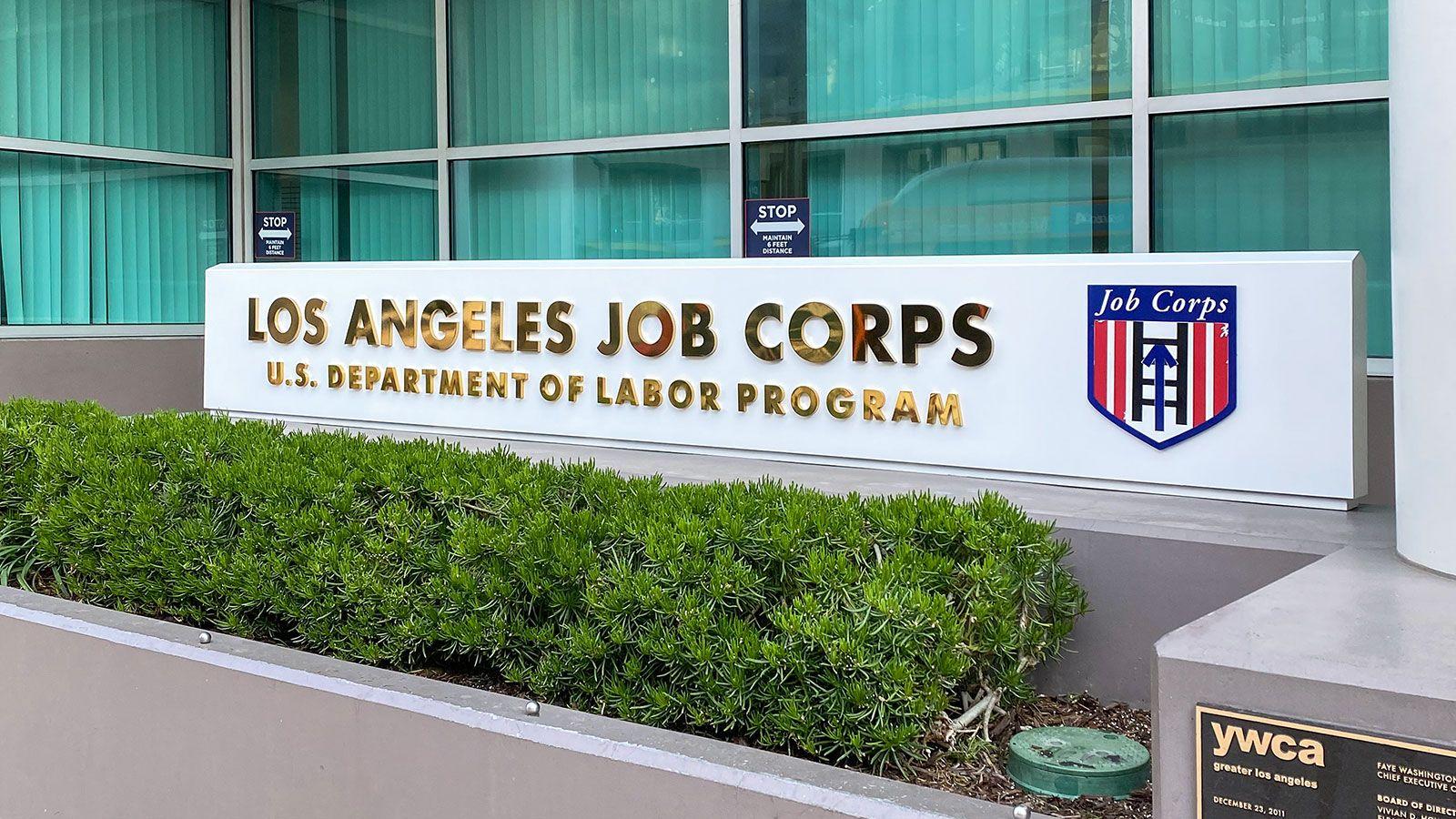 LA job corps 3d letters